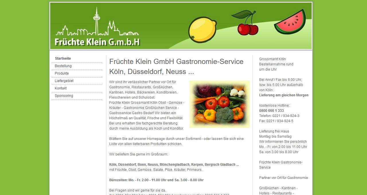 Früchte Klein Gastronomie-Service Köln