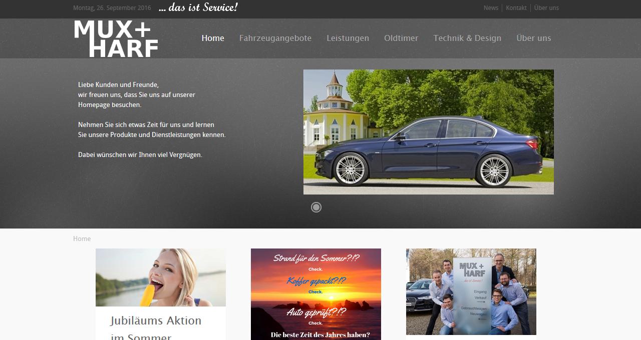 Webdesign Dormagen Autohaus Mux
