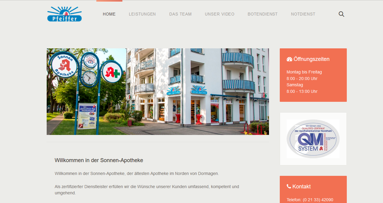 Email Betrieb Sonnenapotheke Dormagen