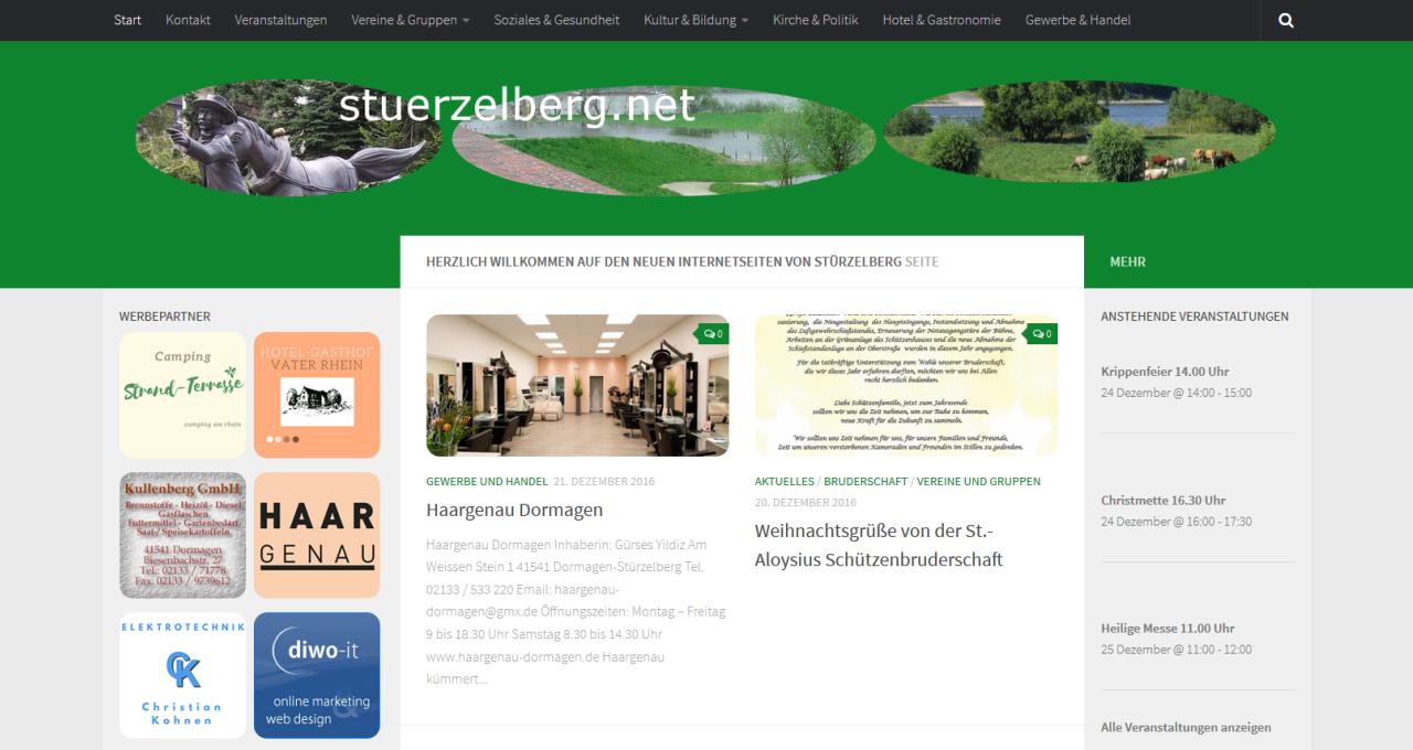 Hosting Online Portal stuerzelberg.net